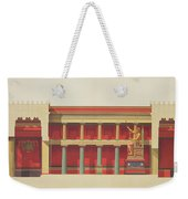 Longitudinal Section Of The Temple Weekender Tote Bag