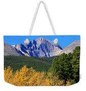 Longs Peak Autumn Aspen Landscape View Weekender Tote Bag