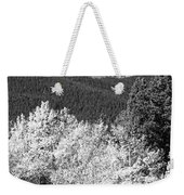Longs Peak Autumn Scenic Bw View Weekender Tote Bag