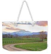 Longs Peak Springtime Sunset View  Weekender Tote Bag