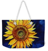 Midnight Sunflower Weekender Tote Bag