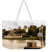 Looking At The Boardwalk Gazebo Walt Disney World Weekender Tote Bag