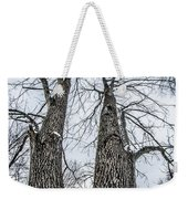 Looking At Tree Tops After A Winter Snow Storm Weekender Tote Bag