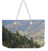 Looking Down On Autumn From The Top Of Smoky Mountains Weekender Tote Bag