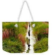 Looking Down Reflection Canal Weekender Tote Bag