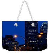 Looking Down The Mass Pike From The Brookline Ave Bridge Weekender Tote Bag