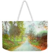 Looking Down The Road Weekender Tote Bag