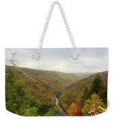 Looking Downstream At Blackwater River Gorge In Fall Weekender Tote Bag by Dan Friend