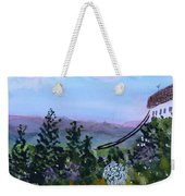Looking Out From Top Of Jay Peak  Weekender Tote Bag