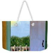 Looking Out My Back Door Weekender Tote Bag