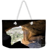 Looking Out Of A Cave Of Gila Dwellings Weekender Tote Bag