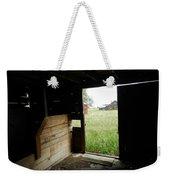 Looking Out Old Barn Weekender Tote Bag