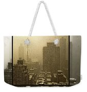Looking Out On A Snowy Day - Nyc Weekender Tote Bag