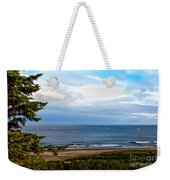 Looking West At The Fishing Boats Weekender Tote Bag