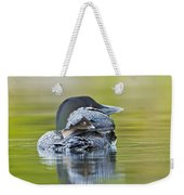 Loon Chick- Feather Hat Weekender Tote Bag