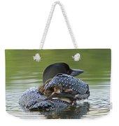 Loon Chick - Peek A Boo Weekender Tote Bag
