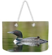 Loon Chick With Parent - Quiet Time Weekender Tote Bag