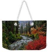 Loon Creek In Fall Colors Weekender Tote Bag