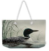 Loon Near The Shore Weekender Tote Bag by James Williamson