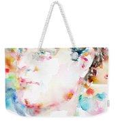Lord Byron - Watercolor Portrait Weekender Tote Bag