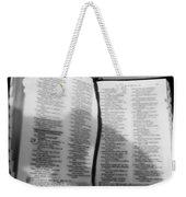 Lord Is My Shepherd Weekender Tote Bag