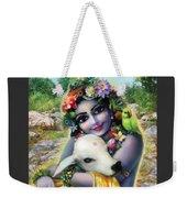 Lord Krishna On The Govardhan Weekender Tote Bag