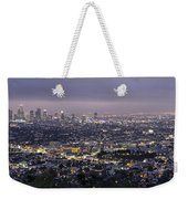 Los Angeles At Night From The Griffith Park Observatory Weekender Tote Bag