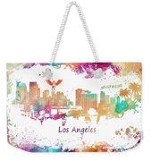 Los Angeles California Skyline Colored Weekender Tote Bag
