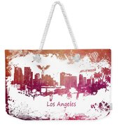 Los Angeles California Skyline Weekender Tote Bag