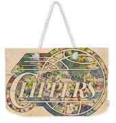 Los Angeles Clippers Poster Art Weekender Tote Bag