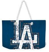 Los Angeles Dodgers Baseball Vintage Logo License Plate Art Weekender Tote Bag