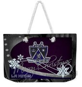 Los Angeles Kings Christmas Weekender Tote Bag