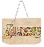 Los Angeles Lakers Logo Art Weekender Tote Bag