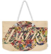 Los Angeles Lakers Poster Art Weekender Tote Bag
