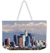 Los Angeles Skyline With Mountains In Background Weekender Tote Bag