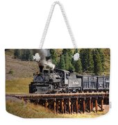 Los Pinos Bridge And Cattle Train Weekender Tote Bag