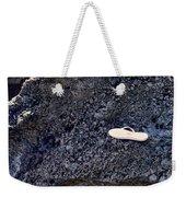 Lost Flip Flop On Lava Rock Weekender Tote Bag