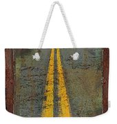 The Road Goes On Forever Weekender Tote Bag