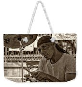 Lost In The Beat Sepia Weekender Tote Bag