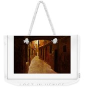 Lost In Venice Poster Weekender Tote Bag