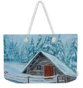 Lost Mountain Cabin Weekender Tote Bag