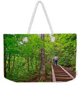 Lots Of Steps On La Chute Trail In Forillon Np-qc Weekender Tote Bag