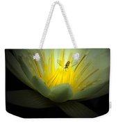 Lotus And Bee Weekender Tote Bag
