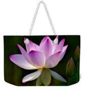 Lotus And Buds Weekender Tote Bag by Susan Candelario