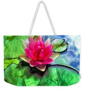 Lotus Blossom And Cloud Reflection Weekender Tote Bag