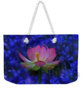 Lotus Flower In Blue Weekender Tote Bag