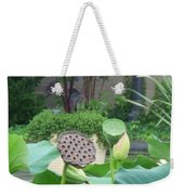 Lotus Flower In Lily Pond Weekender Tote Bag