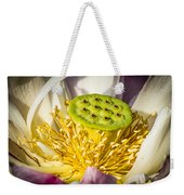 Lotus Heart Weekender Tote Bag