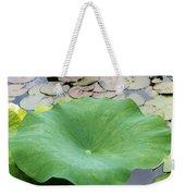 Lotus Leaf Weekender Tote Bag