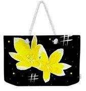 Lotus On Black Weekender Tote Bag